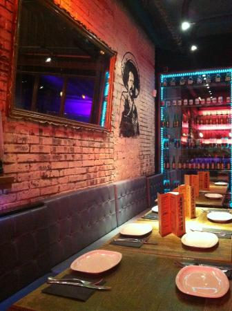 Central Mexicana Restaurante&Tequila: One of our group tables
