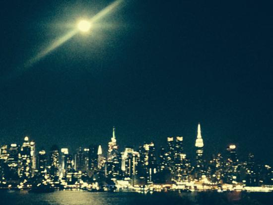 Boulevard East: The Super Moon over Manhattan taken with my iPhone Aug. 10,2014