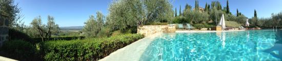 Borgo Poneta : san gimignano vista dalla piscina