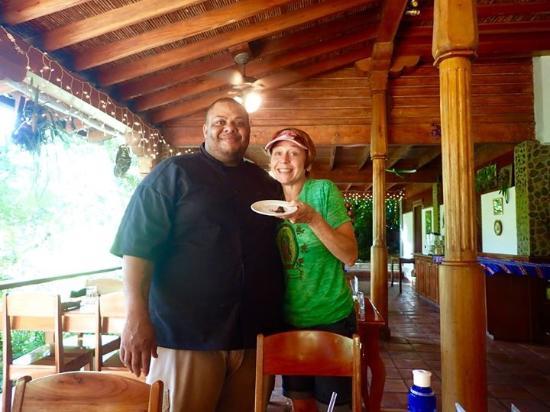 Belize Tree Houses : Chef J sharing his homemade banana caramel chocolate!