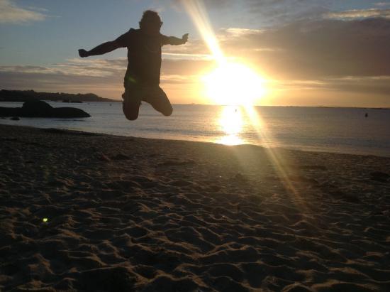 Playa Area das Pipas: Puesta de sol en el aire
