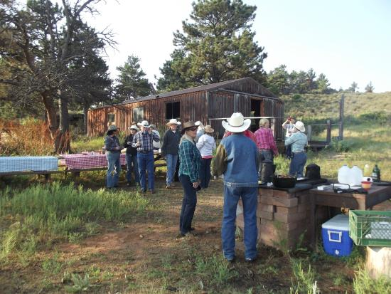 Sylvan Dale Guest Ranch: A happy group of dude ranchers