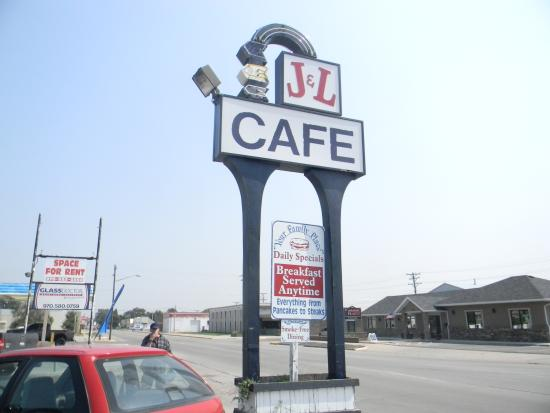 J & L Cafe: Look for this classic sign when you come into town!