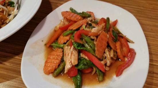This is the dinner dish of m4 drunken ginger chicken picture of zabb thai restaurant this is the dinner dish of m4 drunken ginger chicken forumfinder Image collections