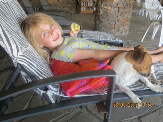 Rooiklip Gästerfarm: lekker relaxen bij pool en hond!