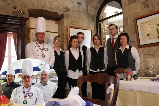 Hotel de France: staf resto et cuisine