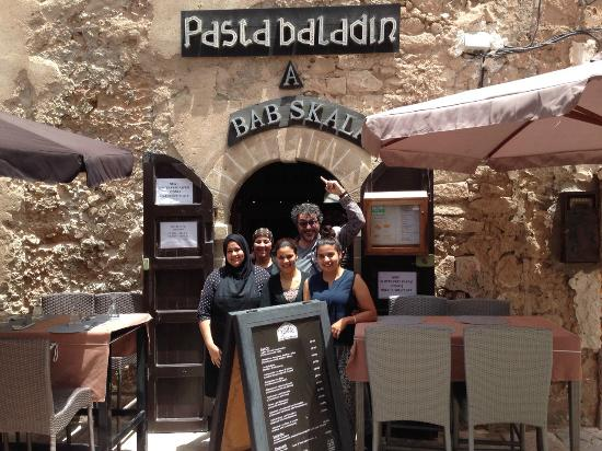 Staff of Pasta Baladin at the entrance of the restaurant