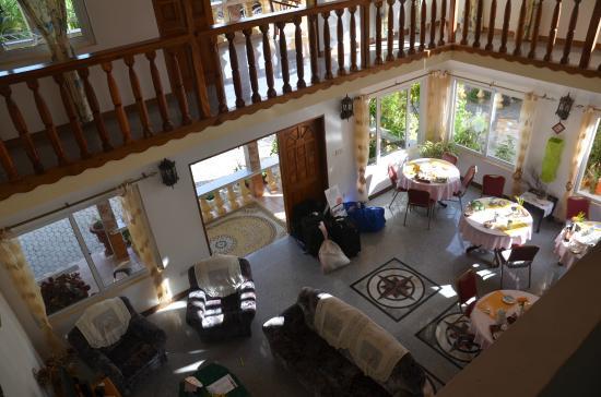 Villa Bananier: vue de la mezzanine
