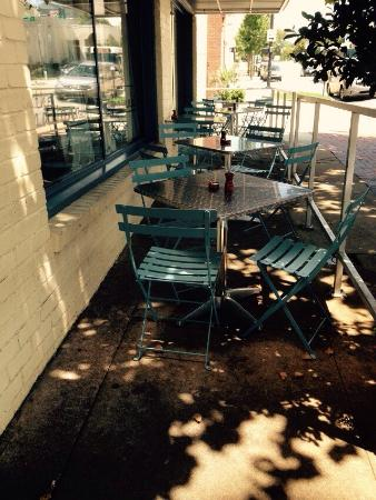 The National : Outside bistro style dining is a good option on many days in Athens.