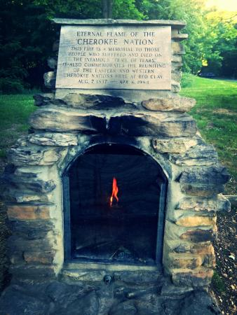 Red Clay State Historic Park: Cherokee fire