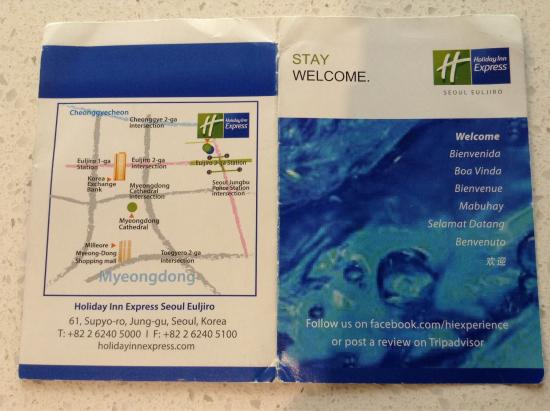 Maps Picture of Holiday Inn Express Seoul Euljiro Seoul TripAdvisor