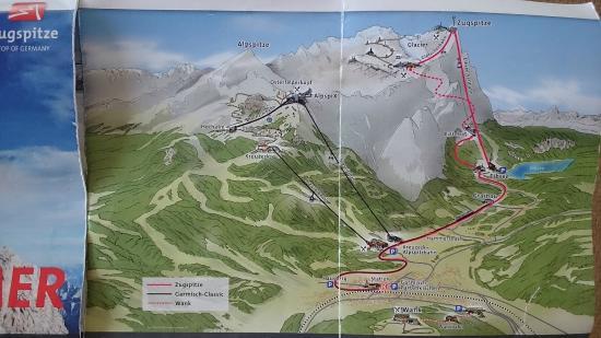 Aussichtsplattform AlpspiX: Alpspitze map