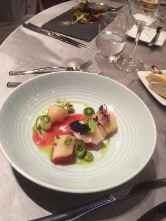 Mlynec Restaurant: Quelques uns des plats dégustés : une présentation originale et irréprochable