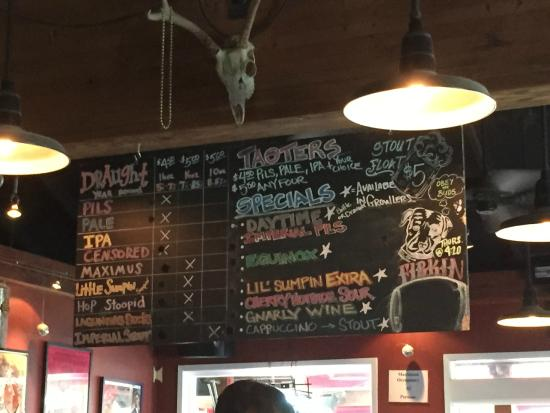 menu board picture of lagunitas brewing co petaluma tripadvisor