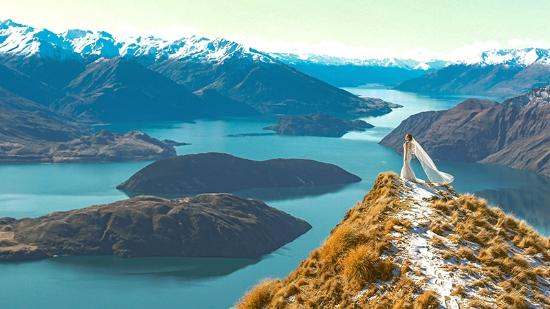 Wanaka, Nieuw-Zeeland: view from the top
