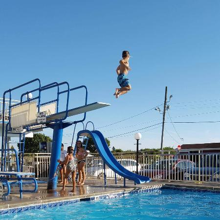 Attache Resort Motel: This kid LOVED the pool so much that we couldn't get him to the beach!