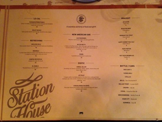 menu picture of the station house st petersburg tripadvisor rh tripadvisor com