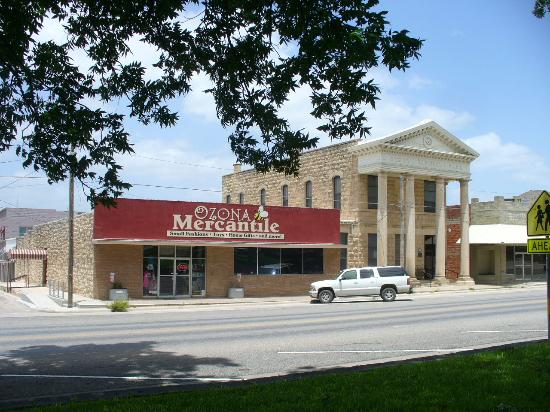 Ozona Mercantile from the town square