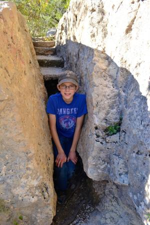 Jacob's Well Natural Area-Hays County Parks: Tight spot to get to the well