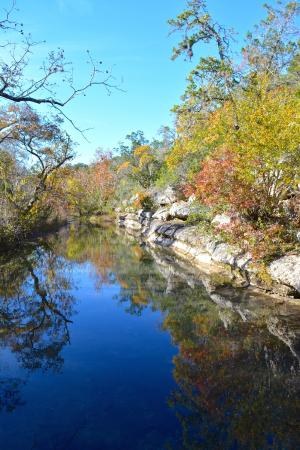Jacob's Well Natural Area-Hays County Parks: Beautiful colors of fall