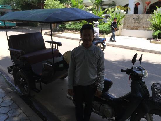 Chateau d'Angkor La Residence: Phem - Hotel TukTuk Driver