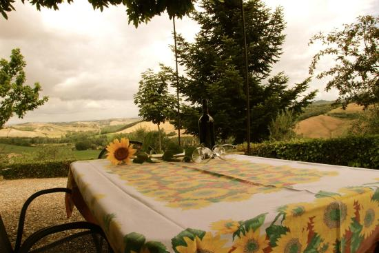 Agriturismo San Lorenzo: Nice wine from the agriturismo with a spectular view!