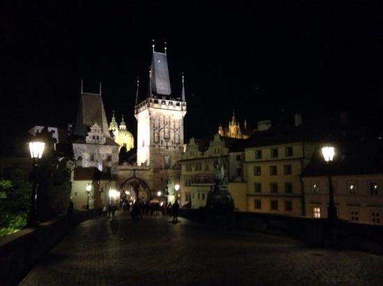 Malostranska Residence: Charles Bridge at night, a short walk from the hotel.