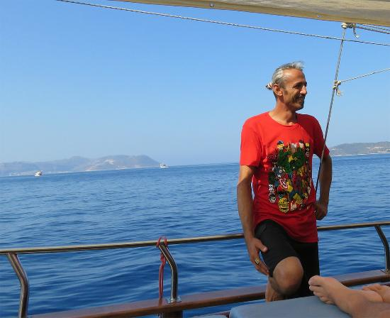 Dennis Boat - Private or Daily Tours: Esat our charming diving instructor.