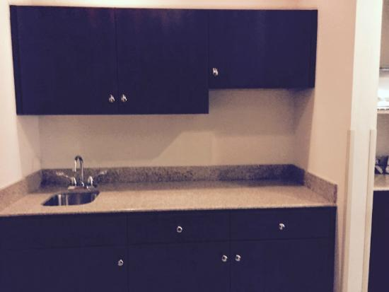 Hampton Inn Manning: Cabinets/counter space.