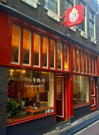 Photo of Modern European Restaurant Omelegg - City Centre at Nieuwebrugsteeg 24, Amsterdam 1012 AH, Netherlands