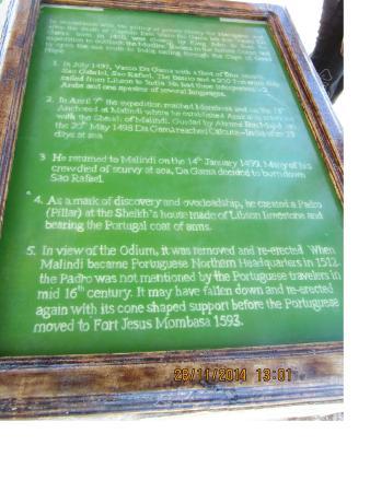 Vasco da Gama Pillar : Описание памятника)