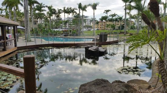 looking over the lily pond towards the pool picture of. Black Bedroom Furniture Sets. Home Design Ideas