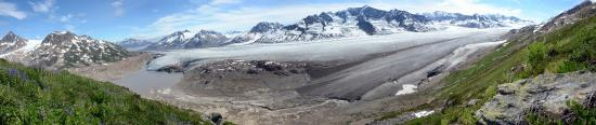 McCarthy, AK: View of Tanna Glacier from one of our day hikes from basecamp