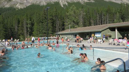The Restaurant Area Of The Pools Picture Of Miette Hot Springs Jasper National Park Tripadvisor