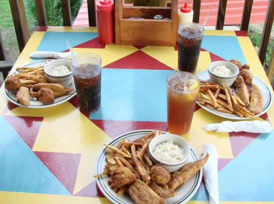 River Place Cafe: Delicious USA raised catfish dinner!