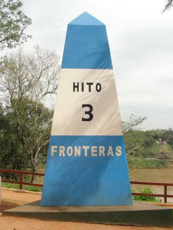Hito de Las Tres Fronteras Argentina: Hermoso nuestro Ito con los colores de la bandera!!!