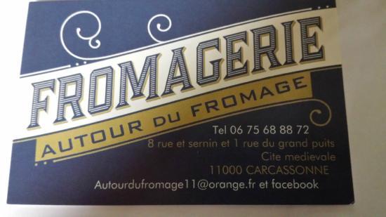 Autour Du Fromage La Carte De Visite