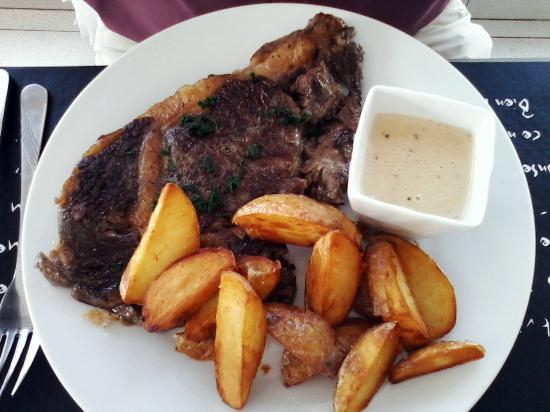 Entrecote poel e picture of secrets de cuisine saint for Secrets de cuisine