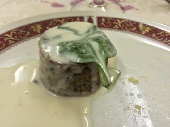 Recorfano, Italia: Ottimo tortino di verdura. Fabio Cremona (il presidente)