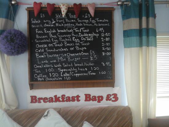 A5 Bacon Bar: menu