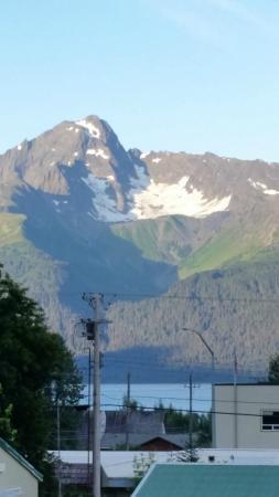 Brass Lantern B & B : View from upper porch of Resurrection Bay. 6 am.