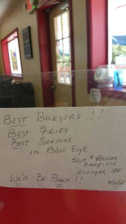 Blue Eye, MO: Open 7am to 6pm. Serving breakfast!