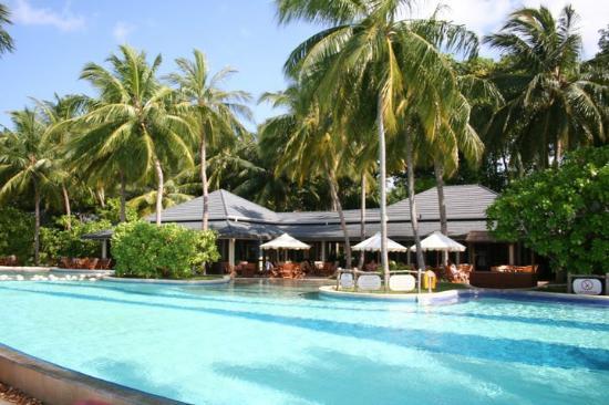 Royal Island Resort & Spa: swimming pool and a bar