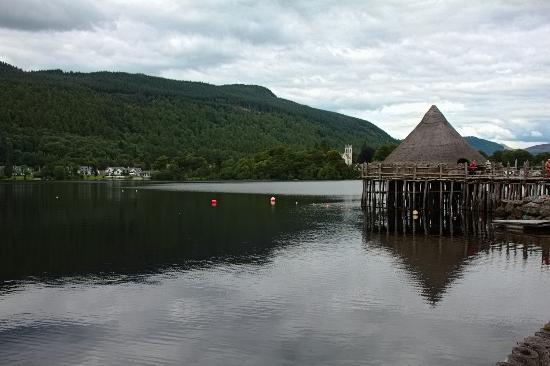 The Waterfront Restaurant: View from Crannog, opposite side of loch.