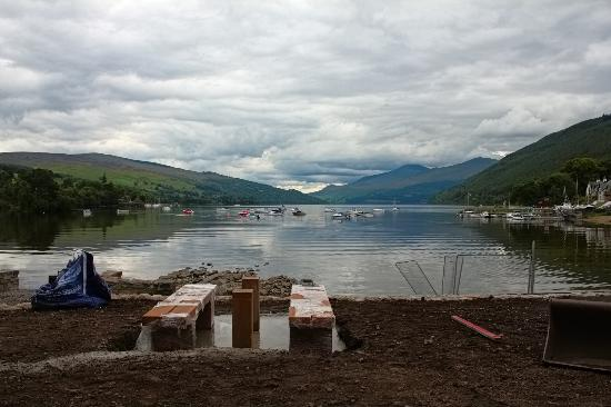The Waterfront Restaurant: Loch Tay from Kenmore beach (recently refurbished).