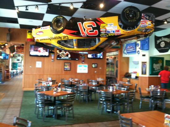 Quaker Steak Lube Nascar Hanging From The Ceiling