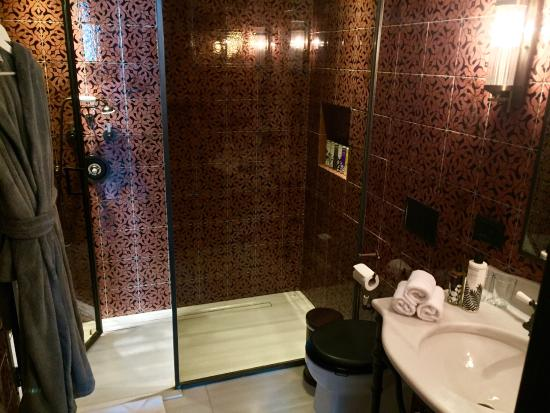 walk in shower with rain shower head - Picture of Soho House ...
