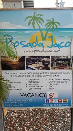 Posada Jaco: hotel sign