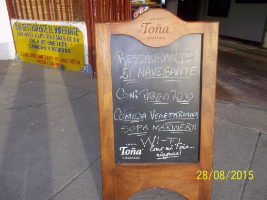 Restaurante El Navegante y sus especialidades