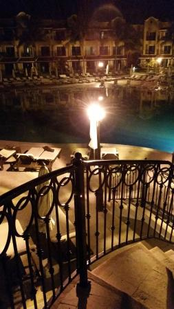 Secrets Capri Riviera Cancun: The night outdoors was always peaceful while the bustling indoors.
